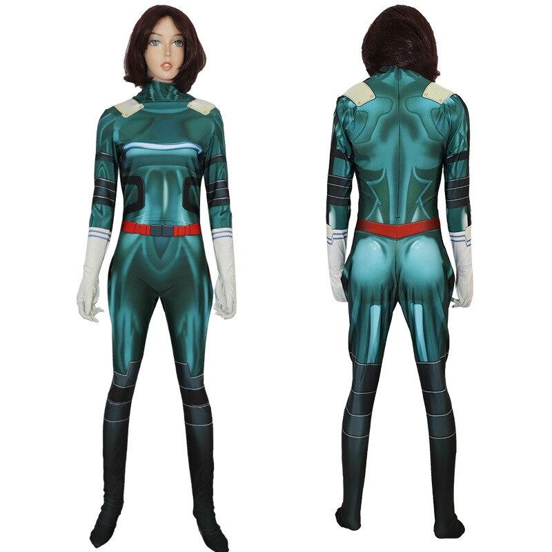 Fashionable Female   My Hero Academia Cosplay Costume Deku Costumes Zentai Bodysuit Suit Halloween Costumes Christmas Gifts
