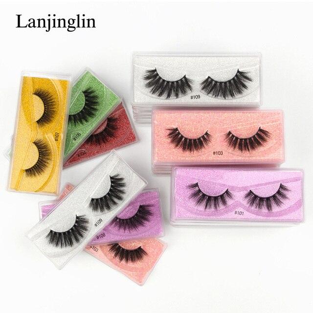 wholesale mink eyelashes bulk 4/20/100/200pcs natural false eye lashes fluffy wispy faux 3d lashes fake eyelash long soft 4