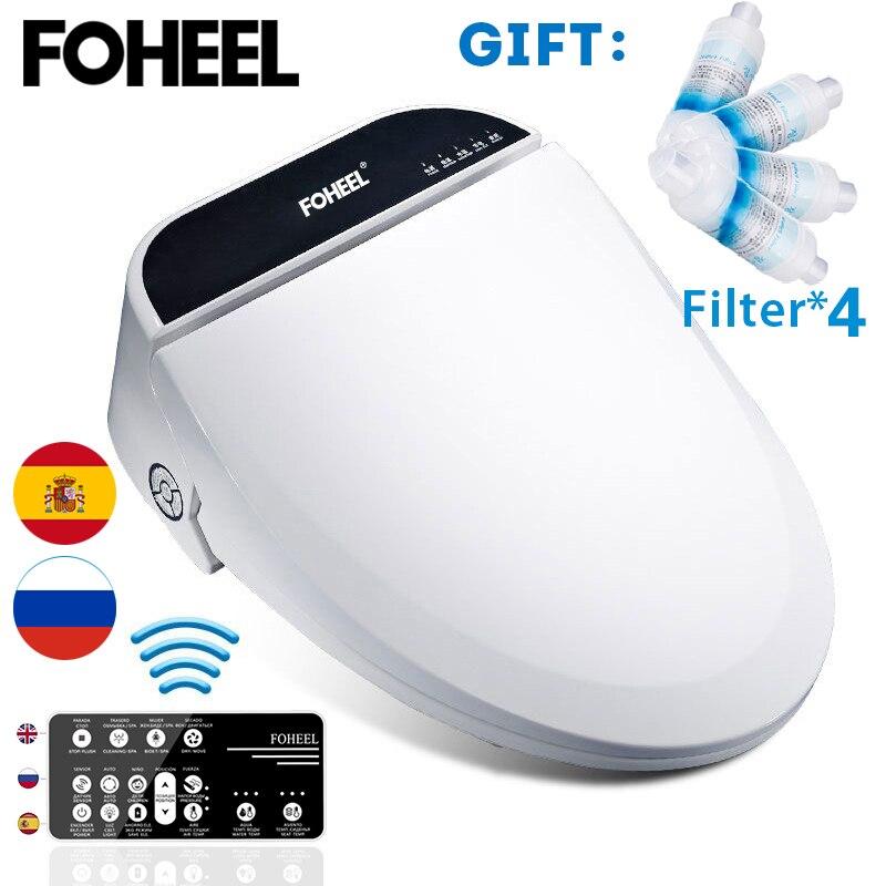 Foheel 스마트 변기 커버 전자 비데 커버 클린 드라이 시트 난방 wc 지능형 변기 커버