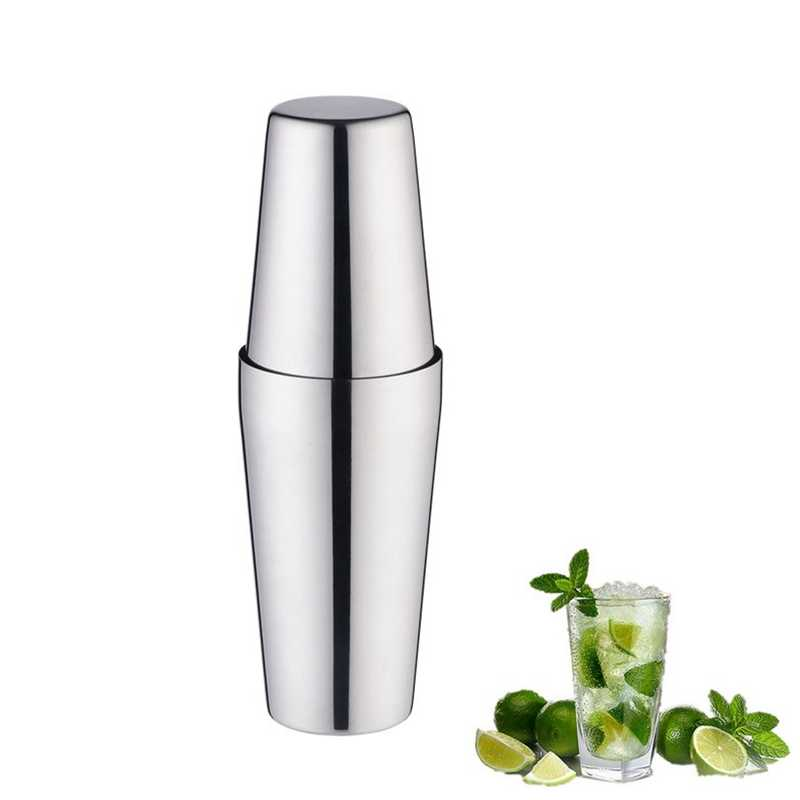 Boston Cocktail Shaker Martini Acciaio Inox Cocktail Shaker Mixer Vino Boston Shaker Per Bartender Drink Bar Partito Strumenti di 750 + 600ML