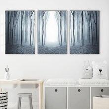 Лесной постер скандинавские абстрактные надеюсь настенные картины