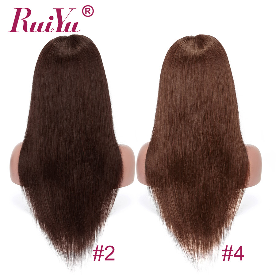 Hd0d3f30749614255aef5c60665e3e9a4V Human Hair Brown Bundles With Closure Brazilian Straight Hair Weave Bundles With Closure Middle Ration 10- 26 Inch NonRemy RUIYU