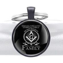 Mysterious Secret Society Pendant Key Rings Classic Men Women Masonic Key Chains 10pcs lot fashion key chains men s and boys key chains key rings key rings custom accepted