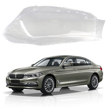 Car Headlight Lens Headlamps Transparent Lampshades Lamp Shell Masks Front Headlights Cover For BMW 5 Series G30 G38 2017-2018