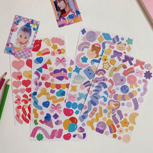 Ins Cute Bear Color Ribbon Waterproof Stickhant Stickers Star Chasing Card Photo Phone Decoration Christmas Window Stickers
