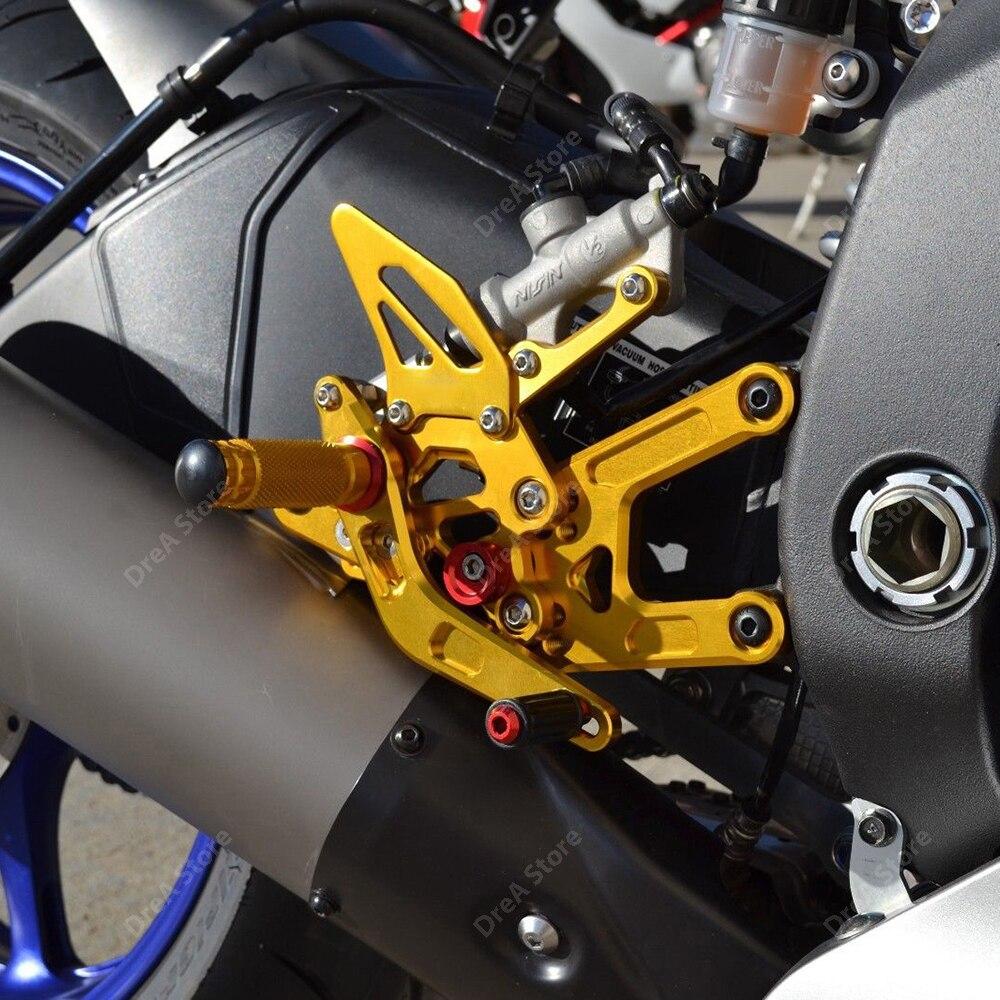 Купить r1 yzf r1 педаль мотоцикла подгонка подножки регулируемая повышенная