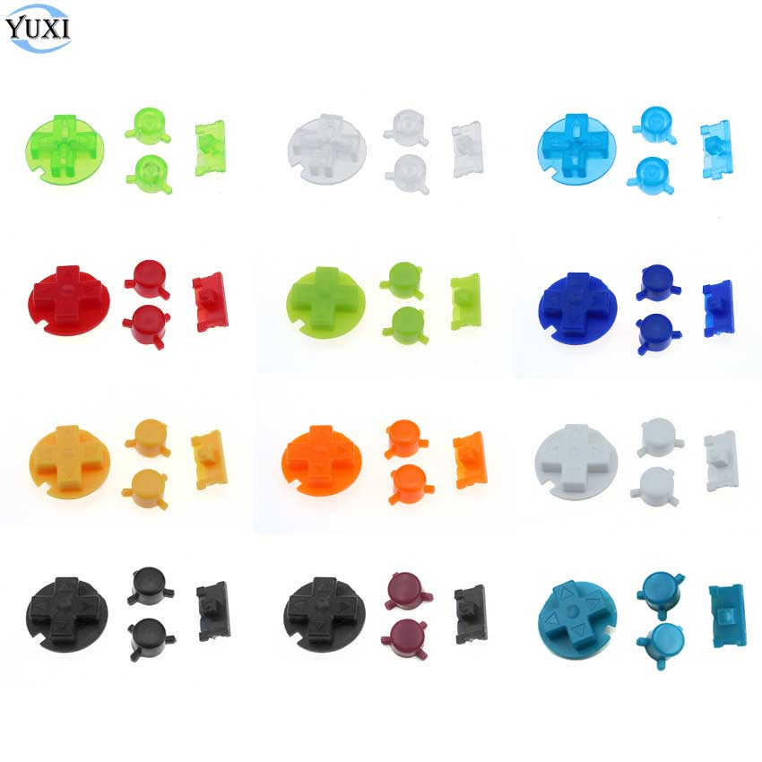 YuXi On Off Power Button A B Buttons D Pads Replacement <font><b>Colorful</b></font> Buttons Set For <font><b>Gameboy</b></font> Pocket For GBP <font><b>Game</b></font> Console image
