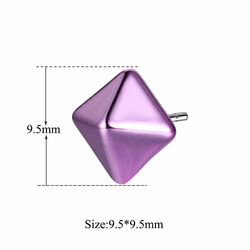 10 ピース/ロットパンク幾何学的なコーンプラスチックスタッドピアス卸売トレンディ耳のスタッド女性安い女性のスタッドのイヤリング