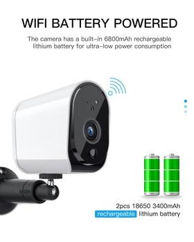 KuWFi 1080P HD IP Camera Oudoor HD Battery WiFi Wireless Surveillance Camera 2.0MP Home Security Waterproof PIR Alarm Audio