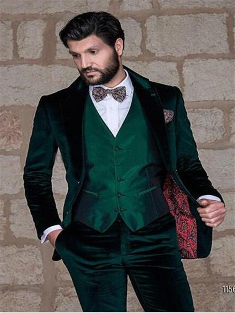 New Classic Men's Suit Smolking Noivo Terno Slim Fit Easculino Evening Suits For Men Grey Tweed Skinny Tuxedo Custom Groom Blaze