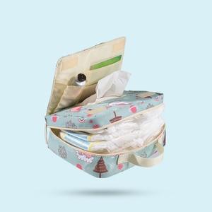 Image 4 - Sunveno Mode Natte Zak Waterdichte Luiertas Wasbare Doek Luier Baby Bag Herbruikbare Natte Zakken 23X18Cm Organizer voor Moeder