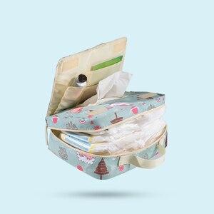 Image 4 - Sunveno موضة الرطب حقيبة حفاضة مقاومة للماء حقيبة قابل للغسل القماش حفاضات الطفل حقيبة قابلة لإعادة الاستخدام أكياس الرطب 23x18 سنتيمتر المنظم لأمي