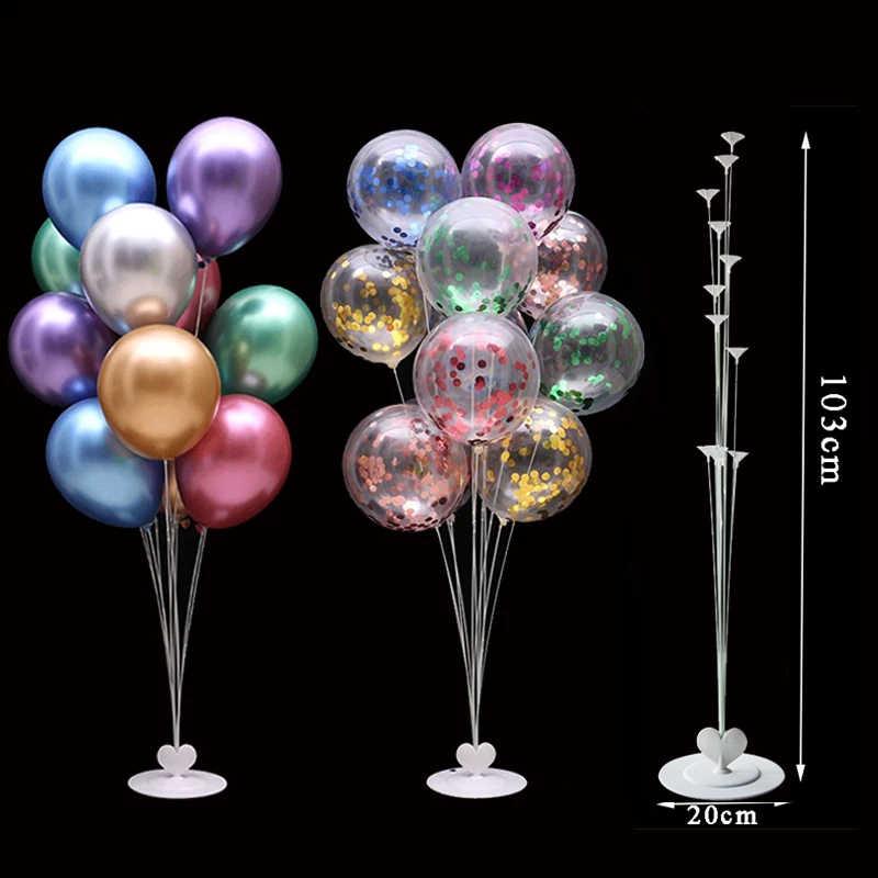 Colonne de support de Ballons pour fête d'anniversaire, confettis, décorations de fête d'anniversaire, décor de fête de mariage pour enfants et adultes