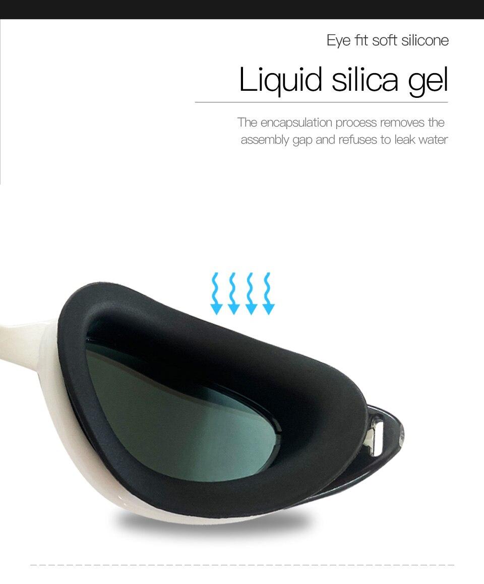 2020new profissional óculos de natação e boné