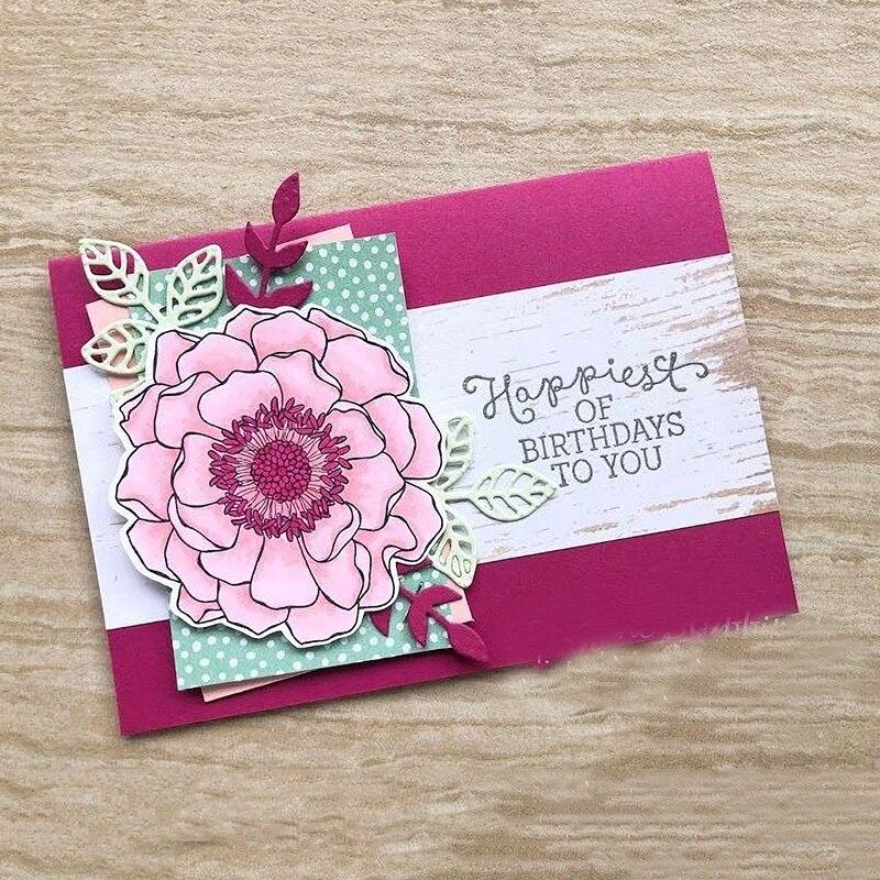 JC Stamps and Dies 2019 Celebrate Flower for Scrapbooking Stencil Craft Die Cut Album Paper knife Card Making Decor Model Dies in Cutting Dies from Home Garden