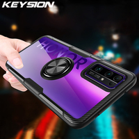 KEYSION-funda a prueba de golpes para Honor 30 30 Pro + Plus 30S X10 Pro, funda trasera de teléfono con anillo magnético transparente para Huawei Nova 7 Pro 7i 7 SE