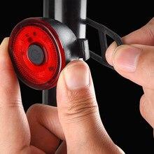 Luz traseira da bicicleta inteligente start/stop freio detecção ipx6 à prova dwaterproof água led lanterna acessórios da bicicleta