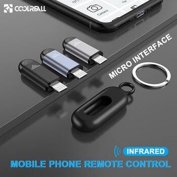 Coolreall Micro Interfaccia USB Universale Del Telefono Mobile Senza Fili di Telecomando A Raggi Infrarossi Remote Controller Per Android TV Box STB