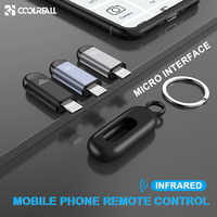 Coolreall interfaz Micro USB Universal teléfono móvil Control remoto inalámbrico Control remoto infrarrojo para Android TV STB Box
