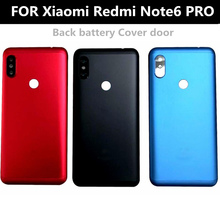 For Xiaomi Redmi note 6 PRO Battery Cover Back Glass Panel Rear Door Housing Case For Redmi note6 pro Back battery Cover door for xiaomi redmi note 6 pro case 360 degree full body cover case for xiaomi redmi note 6 pro hybrid shockproof case glass film