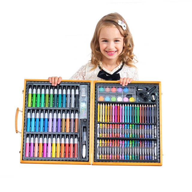 150pcs mega sets Drawing Toys Easel Board Creativity 3D pens for school Kids Coloring Pages Artist