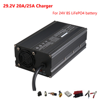 900W 29.2V 20A / 25A For 8S 24V LiFePO4 ebike Battery pack electric bike bicycle wheelchair charger