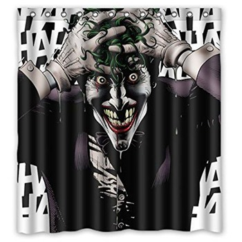 Bathroom Shower Curtains Laughing Funny Crazy Joker Eco-friendly Waterproof Fabric Shower Curtain For Children Decor Shower фото