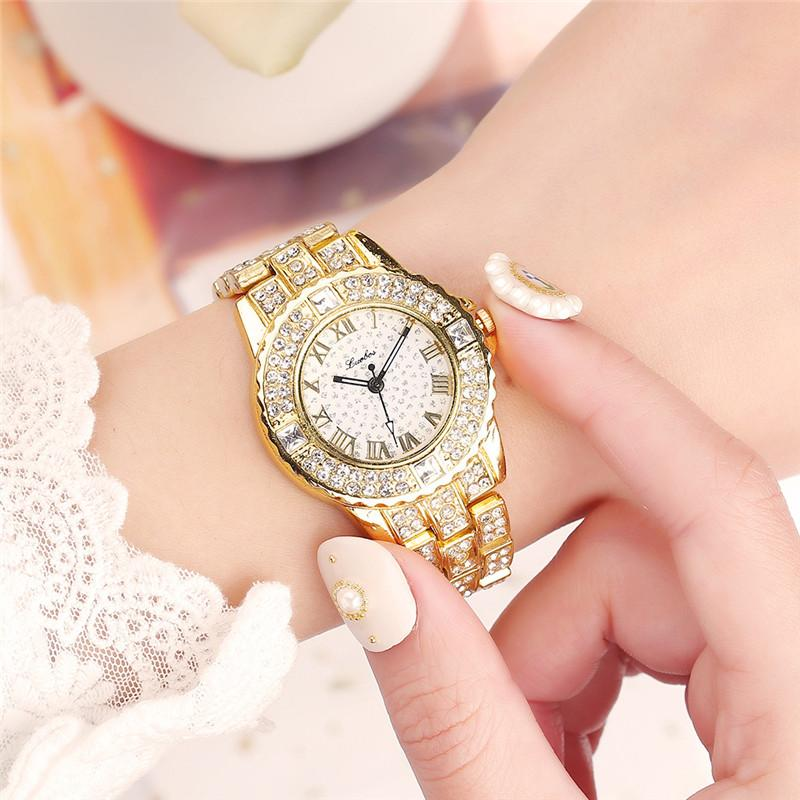 Women Watches Stainless Steel Exquisite Watch Women Rhinestone Luxury Casual Quartz Watch Relojes Mujer 2020 New Arrivals Gift
