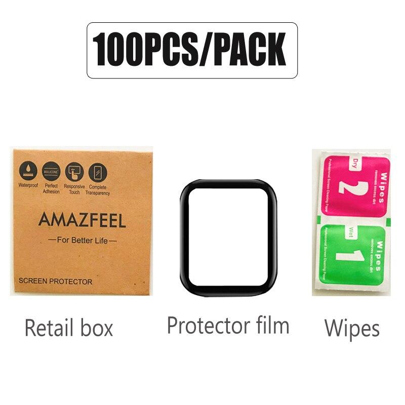 100 unidadespacote para amazfit gts tela protetora