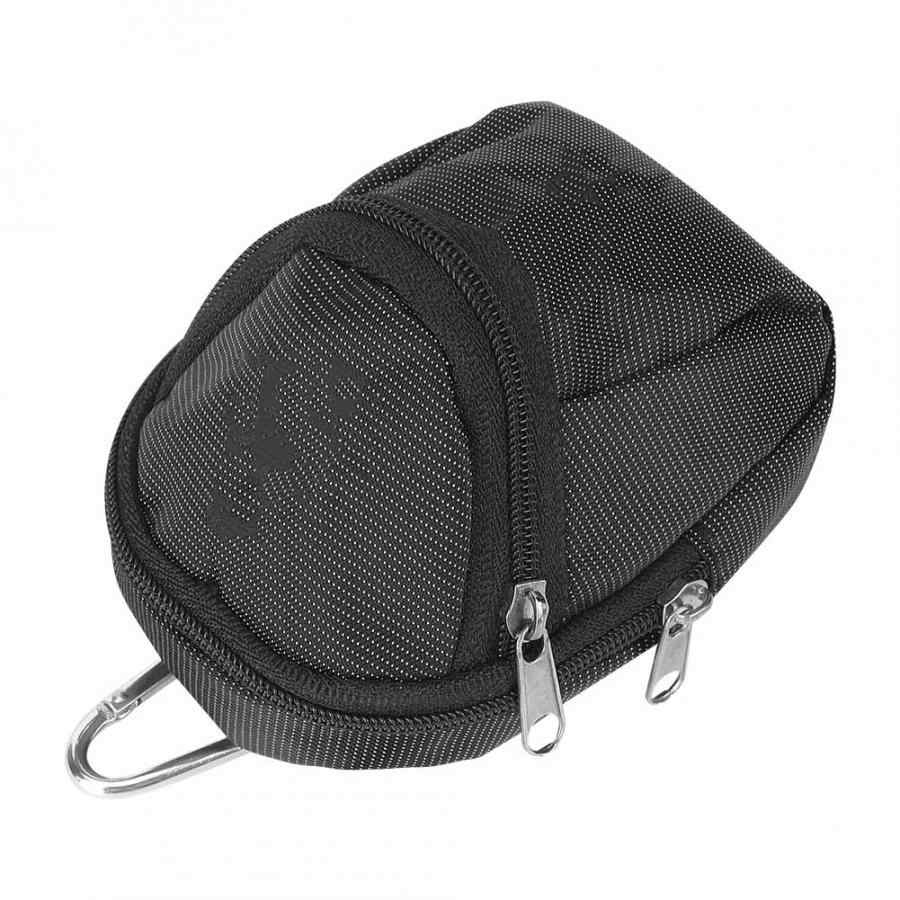 المحمولة صغيرة جولف حامل الكرة أكياس البوليستر كرة جولف الخصر حقيبة حزمة كرة جولف كيس التخزين التبعي مع كيرينغ الأسود