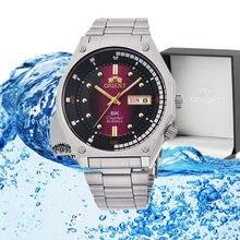 Orient-relógio para homem clássico relógios 50m à prova dwaterproof água movimento mecânico automático auto-vento relógio masculino calendário