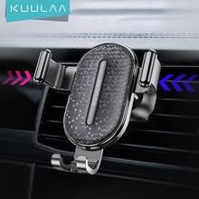 Kuulaa suporte de celular para carro, suporte de gravidade para celular iphone samsung xiaomi