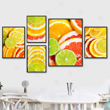 Lemon Slices Juice Fruits Kitchen Decor Wall Art Posters and Prints Modern Home Decor Picture for Living Room Canvas Painting(China)