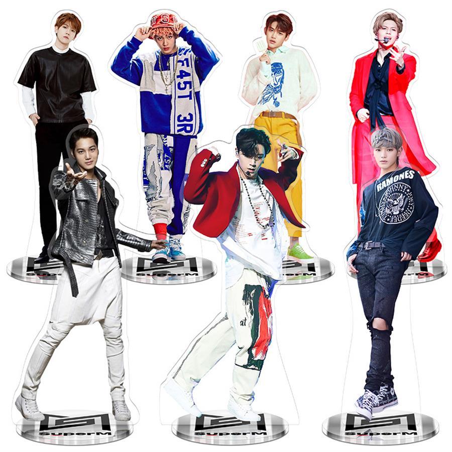 Kpop SuperM Jopping Acrylic Standee Figure Doll Baekhyun Ten Standing Action Table Decor 22cm