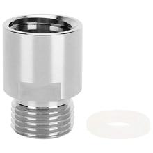 CO2 Adapter Converter, CO2 Cylinder Adapter Female Thread TR21-4 to Male Thread CGA320 for Soda Stream/Soda-Club