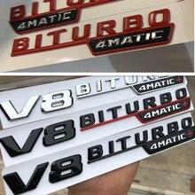 1 pc V8 BITURBO 4matic+ for Mercedes Benz AMG w117 w205 c63 w212 e63 w207 w176 a45 x156 cla45 gla45 car fender emblem sticker