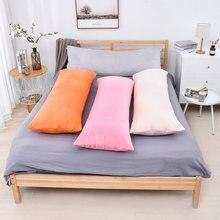 Superfine плюшевые подушки для тела крышка Простая мягкая Длинная