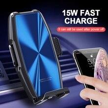 רכב מטען אלחוטי 15W מהיר תשלום עבור iPhone 11 פרו XR X 8 סמסונג S10 S9 S8 Qi אלחוטי מטען לרכב טלפון מחזיק מטען