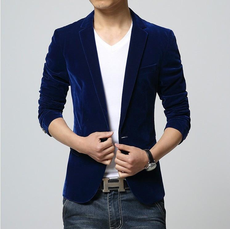 2019 Three-Color Leisure Suits For Men Velvet Suit Jacket Men's Suit