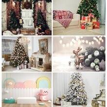 Shuozhike рождественские фотографии фоны комната дерево вечерние