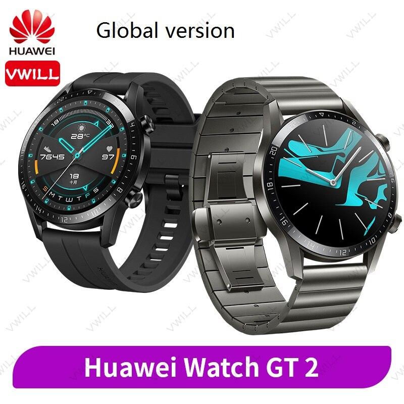 Version mondiale Huawei montre GT 2 montre intelligente Bluetooth 5.1 Smartwatch oxygène du sang 14 jours appel téléphonique fréquence cardiaque pour Android iOS | AliExpress
