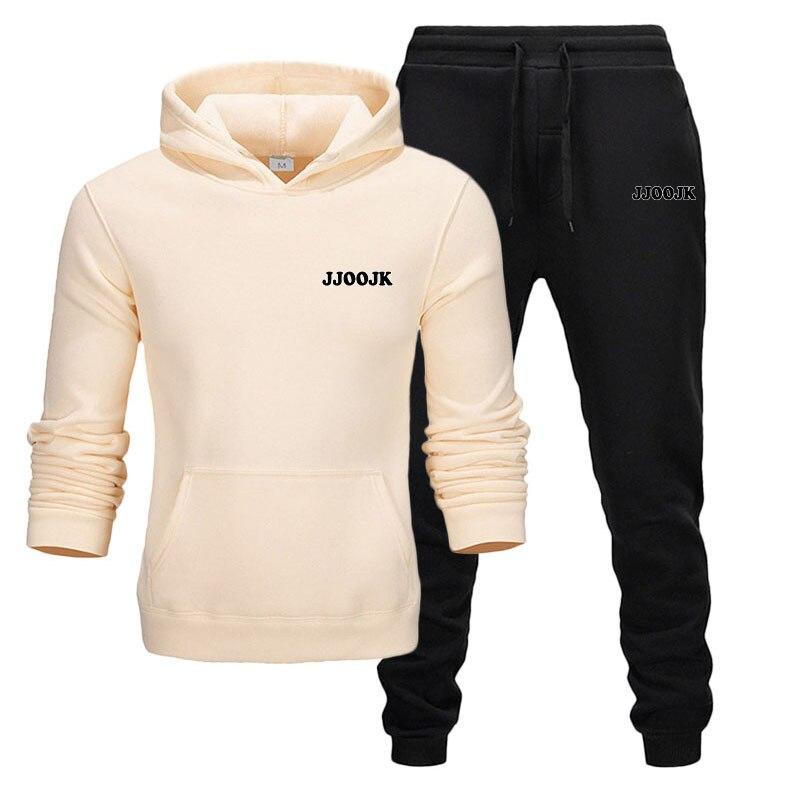 2019 Autumn 2PC Hooded Suits For Men Set Sportsuit Tracksuit Homme Sweat Sweatshirt Mens Hoodie+jogger Chandal Sudaderas Hombre