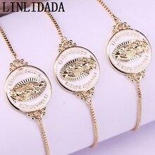 12 sztuk biały kolor emalia okrągłe złącze bransoletki regulowana złota biżuteria