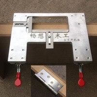 Cerniera di apertura modello di posizionamento cerniera Locator lavorazione del legno hole puncher con trapano universale strumento di installazione-in Set di attrezzi manuali da Attrezzi su