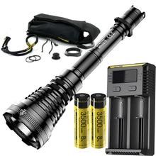 NITECORE MH40GTR Hunting Flashlight CREE XP L HI V3 LED max 1200 lumen Long Throw 1004M DC Charging Tactical  Rechargeable Torch