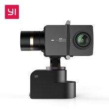 Yi cardan handheld 3-axis para yi 4k/4k mais câmeras de ação/inclinação/rolo ajuste manual de 320 graus compacto & luz