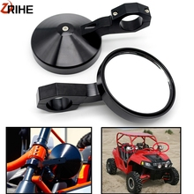 """For Can am Commander Maverick for Polaris RZR XP1000 RZR900 XP 4 UTV 4.7"""" Round Adjustable Billet Side Rear View Mirrors 2""""Clamp"""