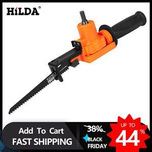 Image 1 - Hilda sem fio reciprocating saw metal ferramenta de corte de madeira acessório broca elétrica com lâminas ferramenta elétrica