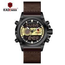 TOP Brand Dual Display LCD Wristwatch KADEMAN 2019 Men Watch Sport Digital Watch Luxury Military Man Automatic New Fashion Clock