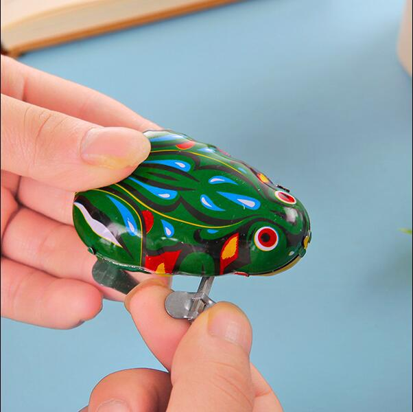 LeapFrog Greenish Blue Classic Algam Spring Children Baby Toy Leapfrog 80 After Mainland China Retro Toy Animals